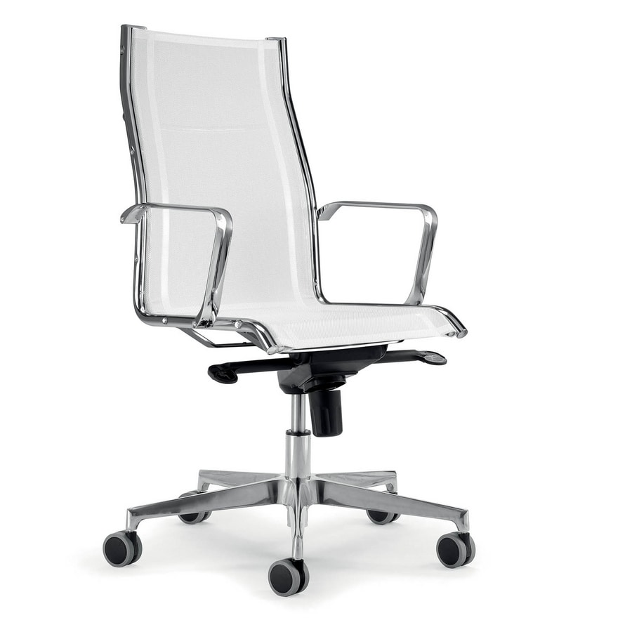 UF 545 / A, White executive armchair ideal white modern office