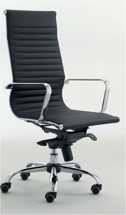UF 558 / A, Executive chair with chrome base with wheels