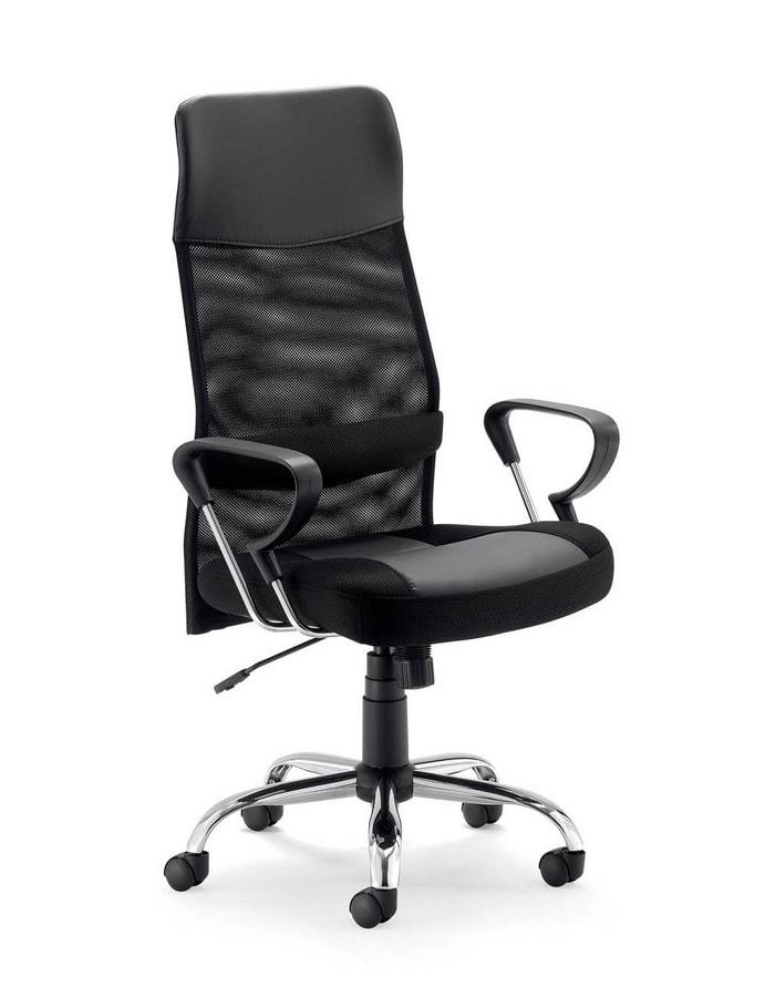 UF 573, Modern executive chair with mesh back