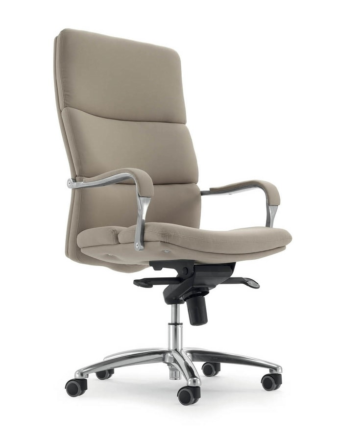 UF 577 / A, Chair with wheels for office, padded ergonomic seat