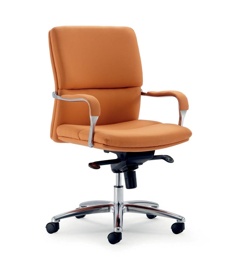 UF 578 / B, Office chair with aluminum base, multiblock mechanism