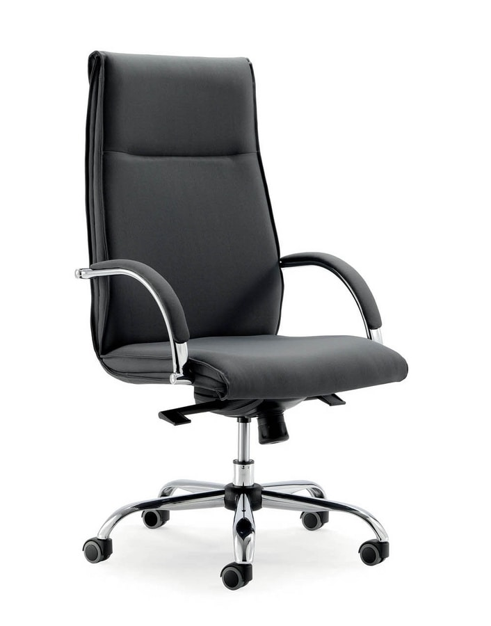 UF 583 / A, Executive armchair with gas lift system and base with wheels