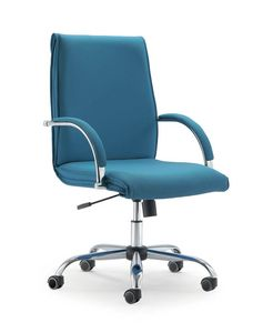 UF 584 / B, Armchairs with chrome base and wheels