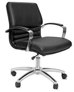 Venus CR medium, Office chair with chromed armrests and base