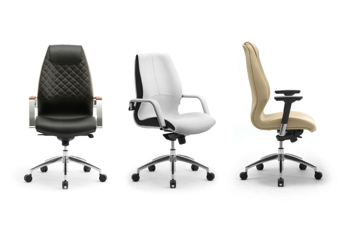 Wave executive 1502, Executive office chair, covered in leather