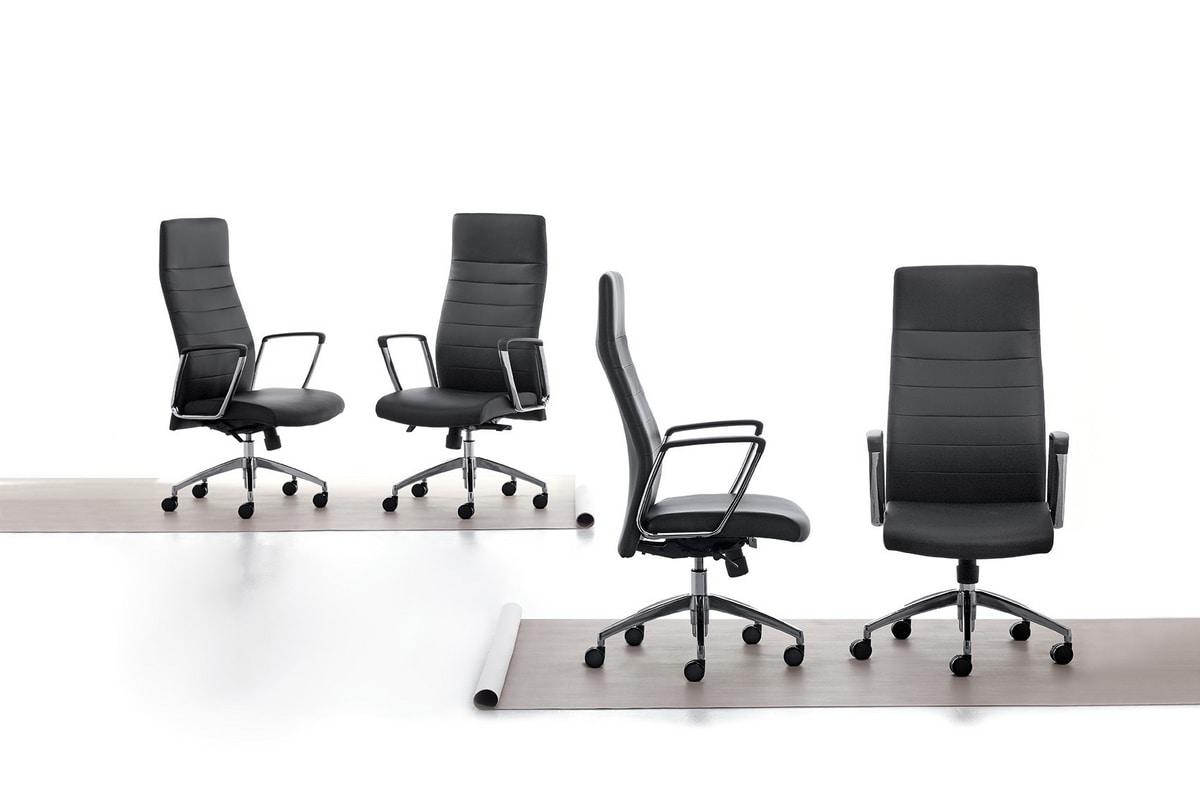 Zaira, Slim executive armchair for office