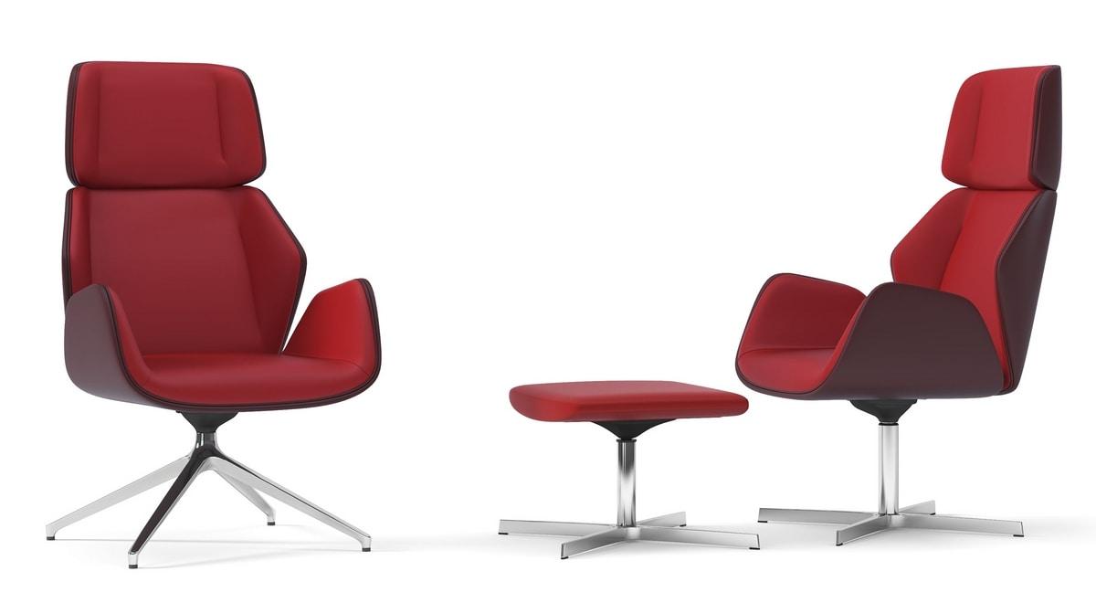 HAIKU, Relax armchair with harmonious movement