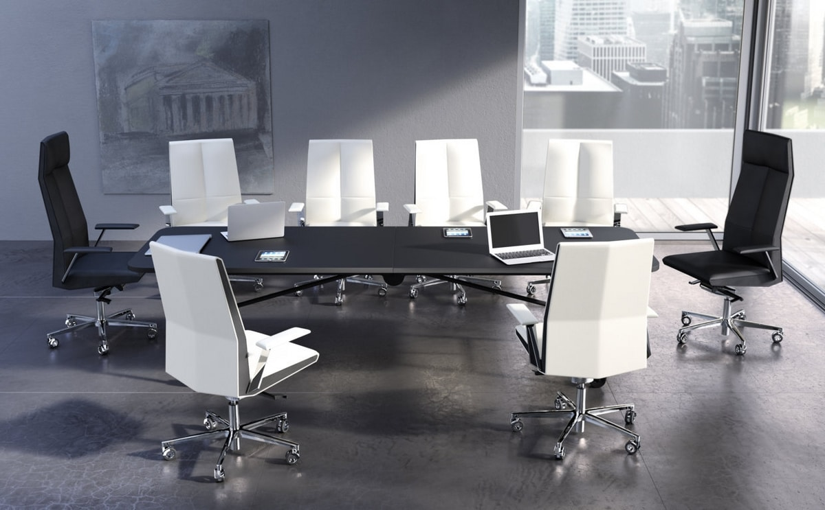 Impero M, Executive office chair covered in leather