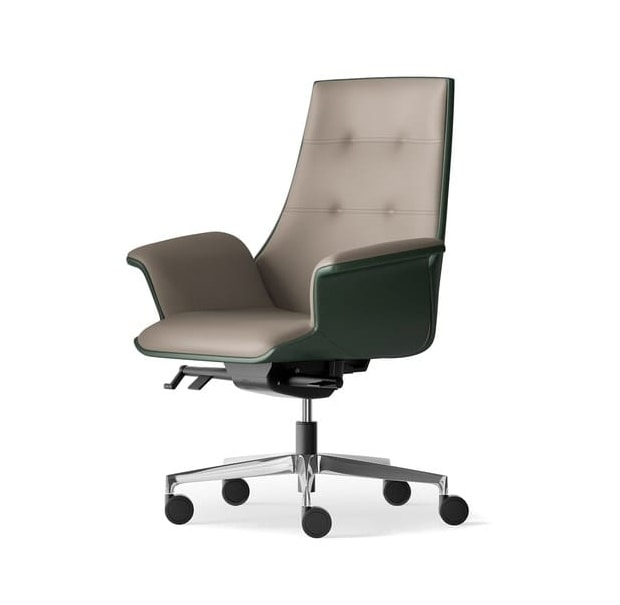 MAXIMA, Semi-directional armchair with synchronized movement and wheels