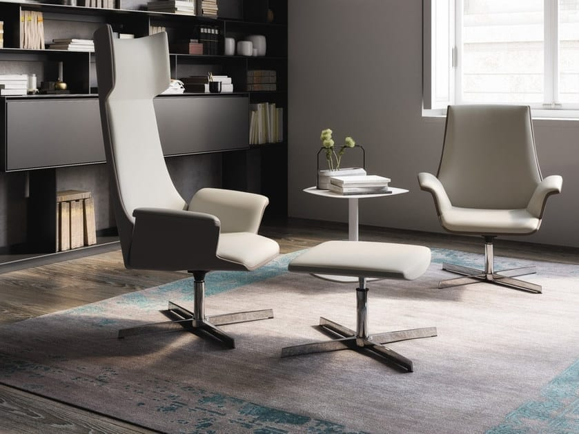 MAXIMA, Revolving armchair with four spokes
