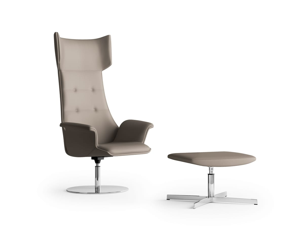 MAXIMA, Swivel relax armchair, disc base