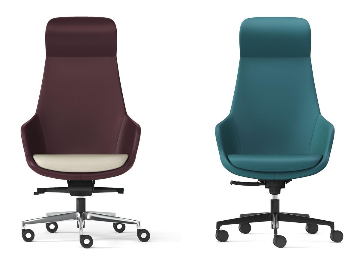 METROPOLITAN, Executive armchair for office