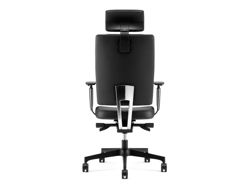 PROGRESS, Executive armchair with headrest, adjustable armrests