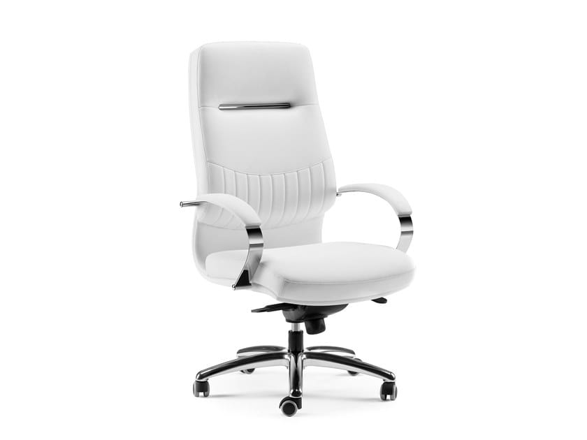SELECTA, Executive office armchair, base and armrests in steel