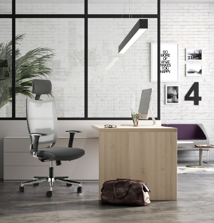 SHINE, Executive chair, mesh back, with headrest