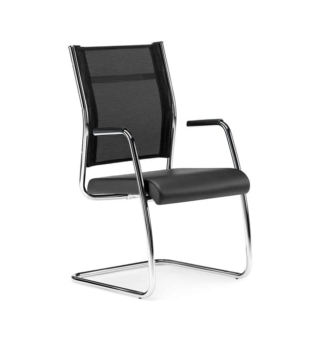 SYNCRONET, Office armchair with sled base
