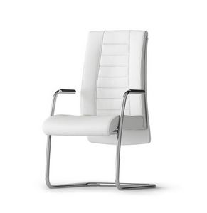 TAIT, Waiting chair for office, with sled base