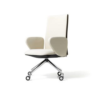 Velvet visitatore ruote, Task chair for office