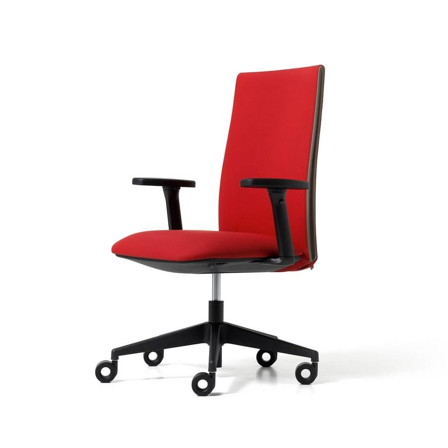 Velvet visitatore ruote, Task chair for office