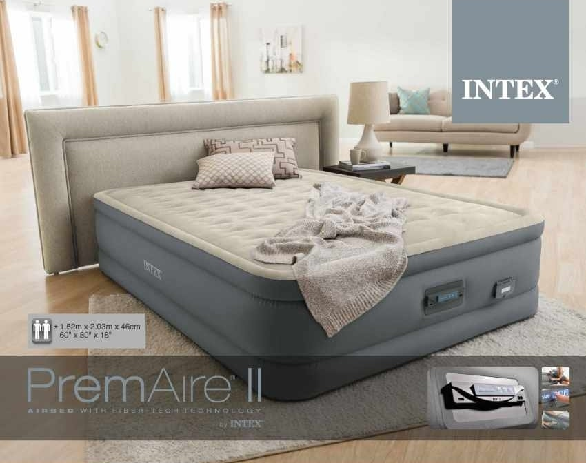 Inflatable Double Mattress Intex 64926 With USB 152x203x46cm, Double inflatable mattress