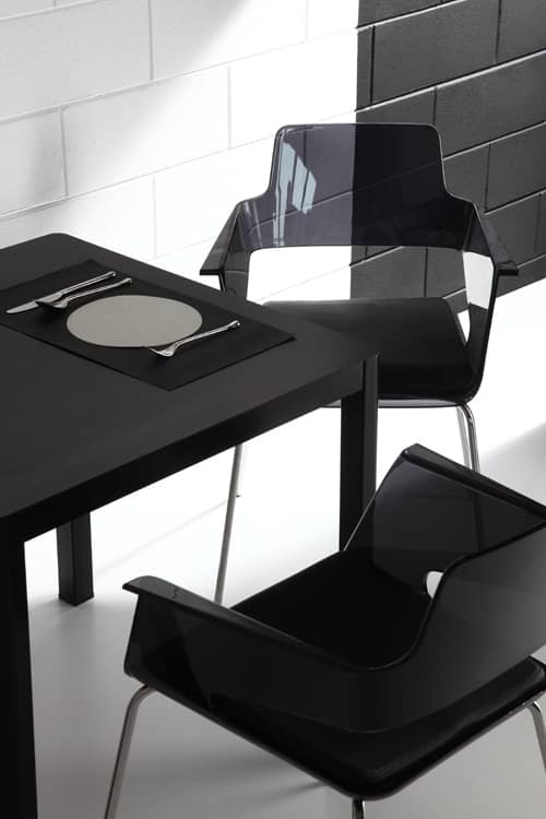 B32 4L, Chair with nylon shell, contemporary design, metal base