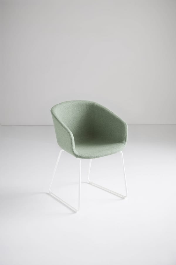 Basket Chair ST, Sled base armchair in technopolymer