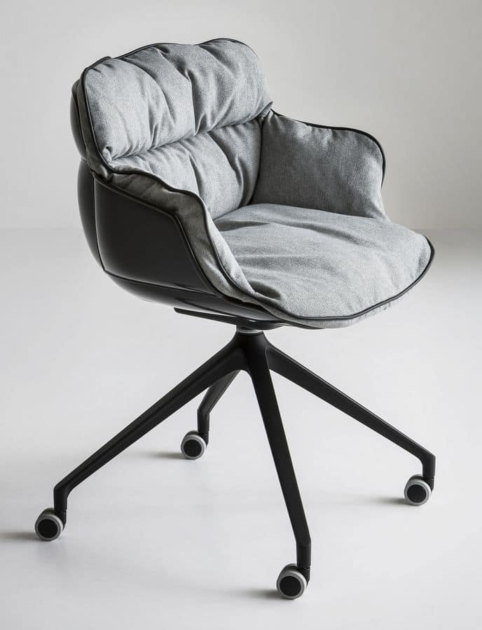 Choppy UR, Armchair design, metal base with wheels