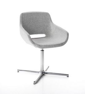 Clea Plus 4 blades self-return mechanism, Swivel armchair, with self-return mechanism