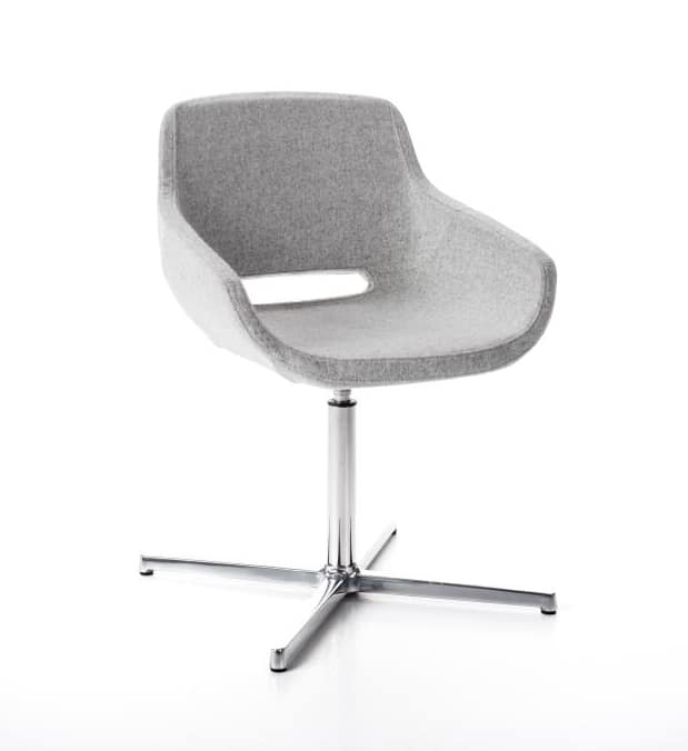 Clea Plus 4 blades self-return mechanism, Swivel armchair, with self-return mechanism