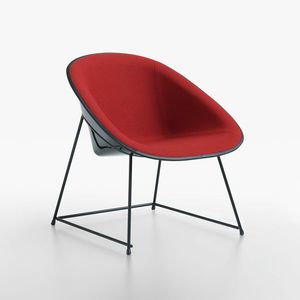 Cup lounge mod. 1960-12, Padded lounge chair