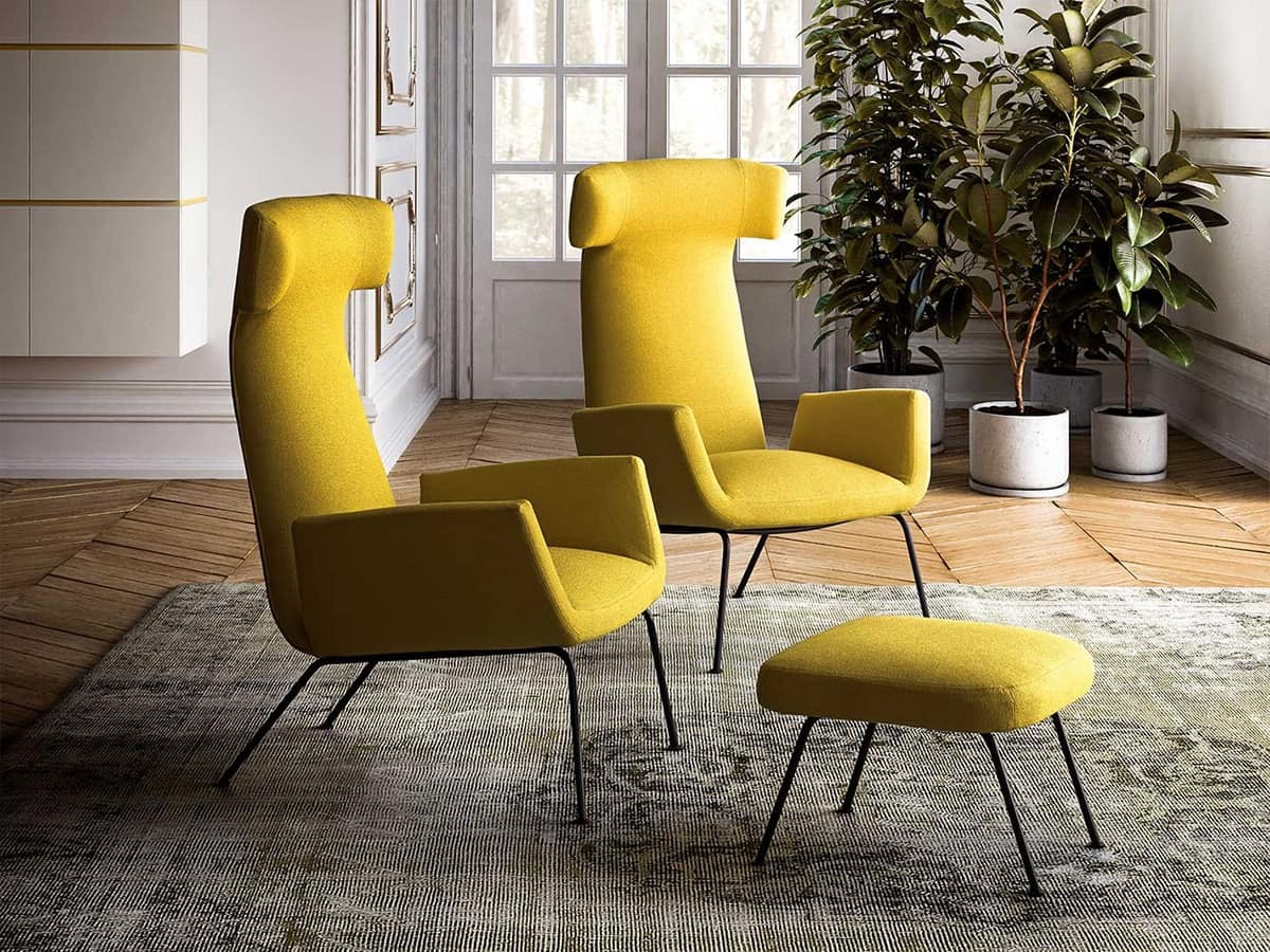 Dora, Upholstered armchair with an elegant design