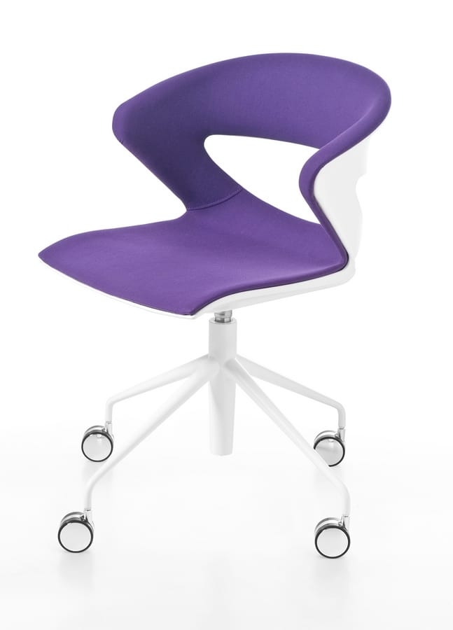 Kicca, Multipurpose stackable chair, polypropylene shell