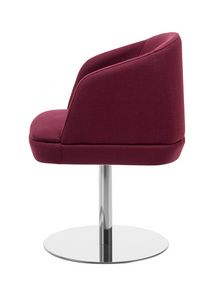 Noemi ARMS 1, Small armchair with round metal base