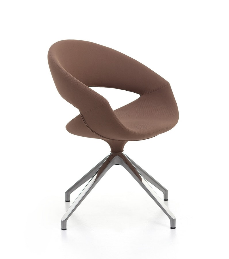 Spot Soft 01 FLC, Padded armchair with swivel base
