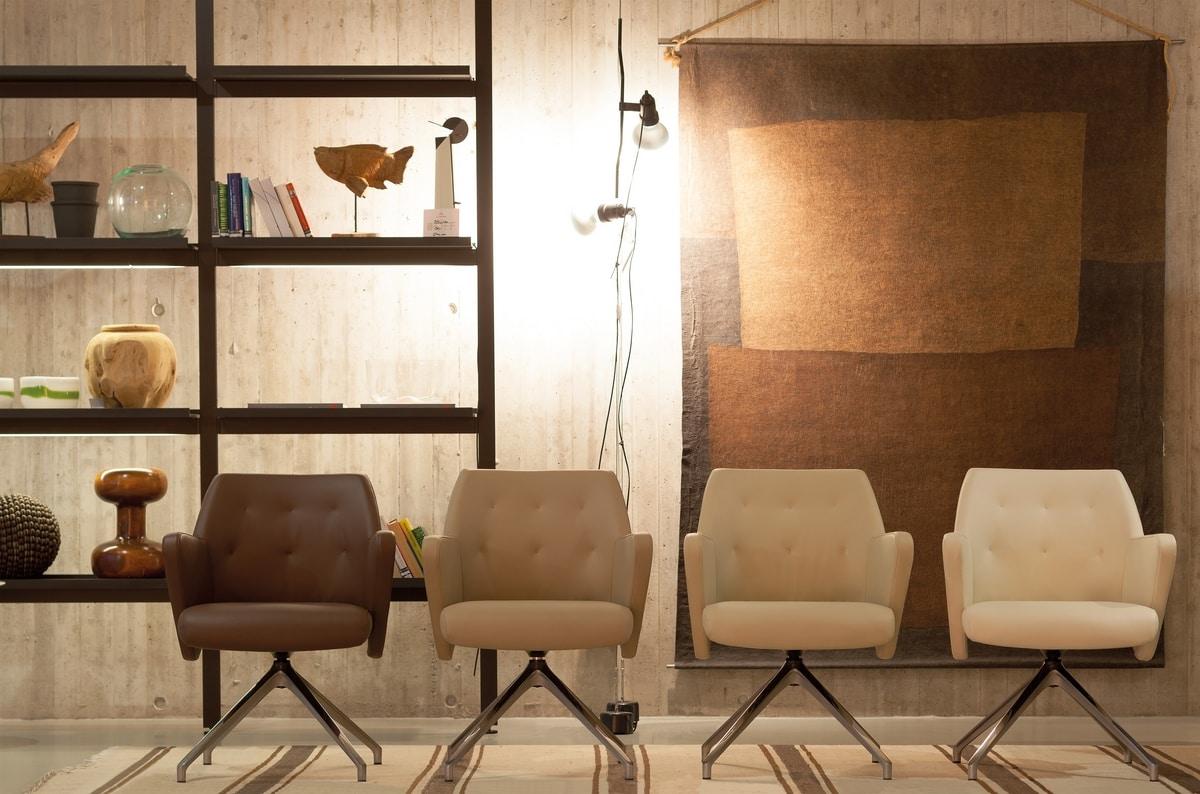 Wrap Plus 04, Swivel office armchair