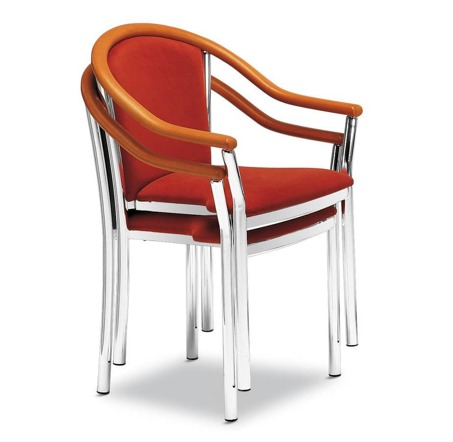 Art.Manuela, Padded chair with armrests for contract spaces