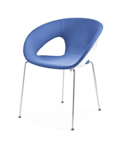 Krizia, Polycarbonate chair on metal chrome frame