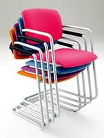 Laila 0580, Stackable chair with sled base