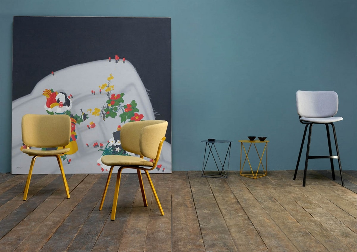 Lola PT, Chair with upholstered seat and back
