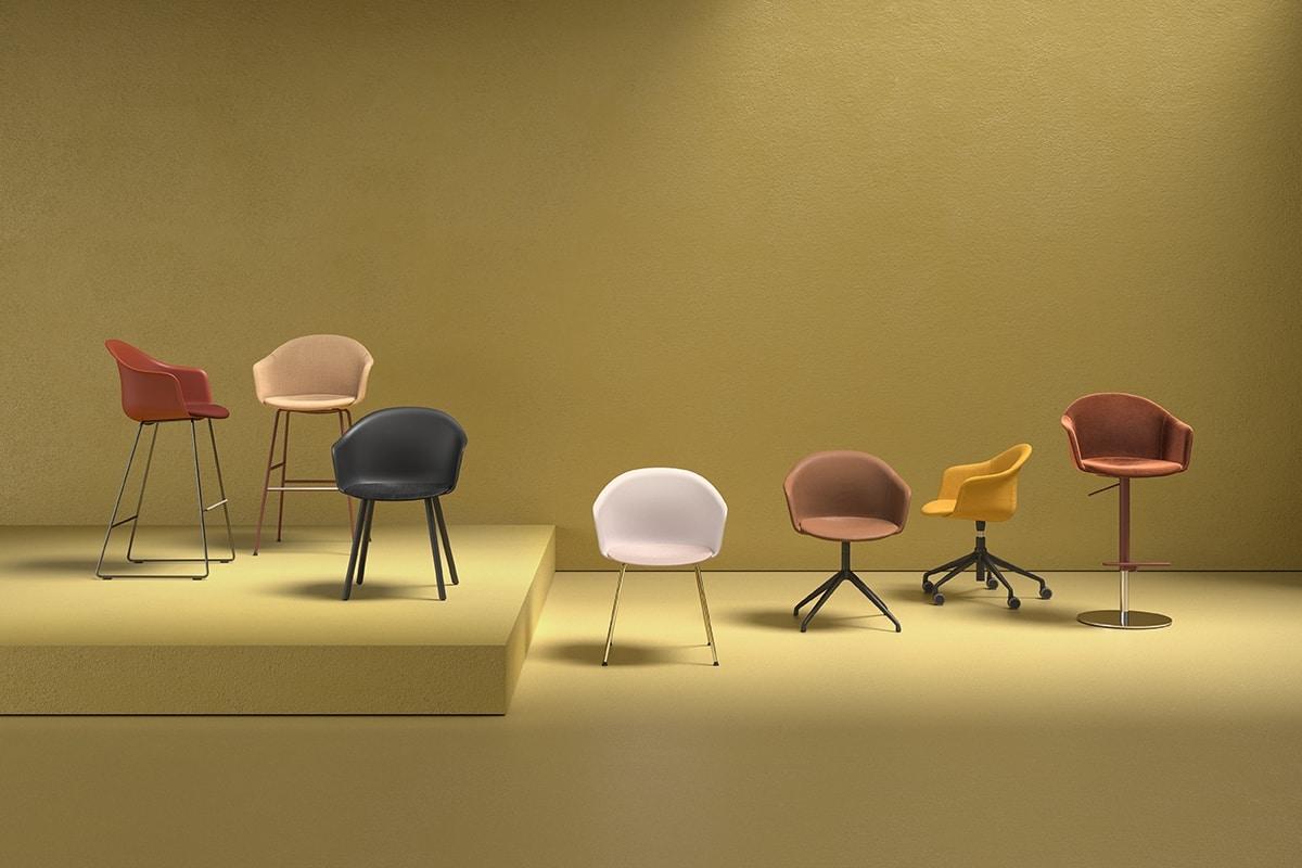 Máni Armshell fabric SP, Swivel armchair