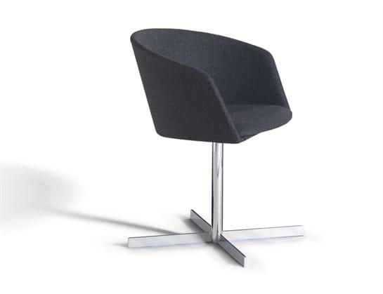 Moon Light 663CRU, Small armchair with swivel metal base