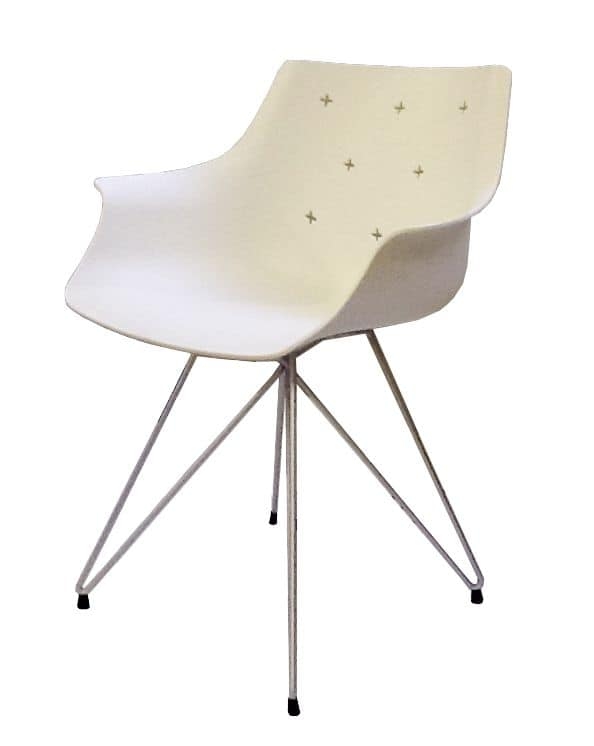 More TC, Chair with metal structure, technopolymer shell