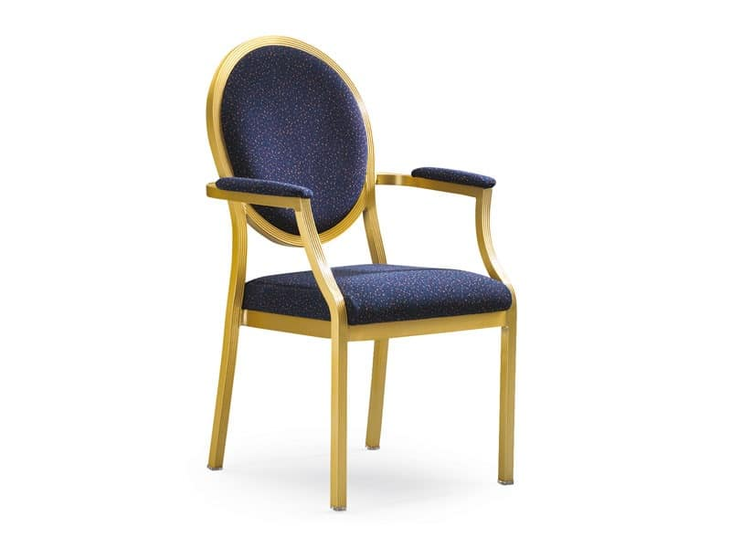Salon 95/10A, Chair for conference rooms, with lateral coupling system