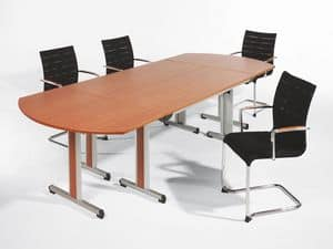 Sentrum 05/1A, Stackable chair with armrests, for meeting rooms and offices