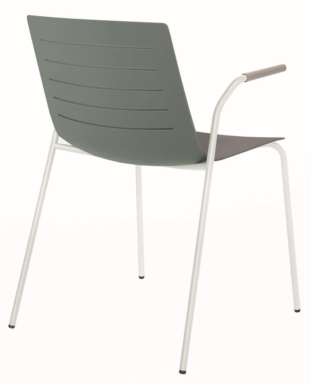 Slim 01A, Stackable chair with armrests ideal for conference room
