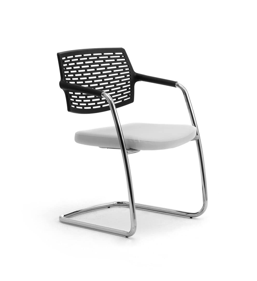 Spot 0570, Office chair with sled base, backrest in mesh