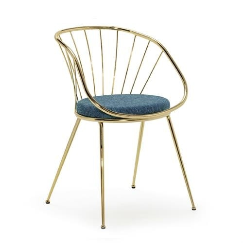 Sun PT, Armchair in metal, with padded seat