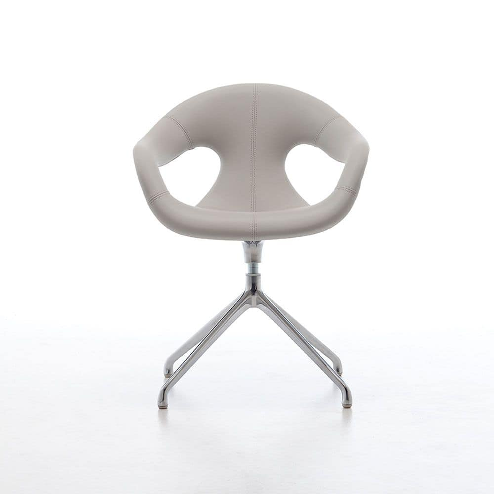 Sunny fabric SP, Swivel rmchair upholstered in fabrics certified for contract use