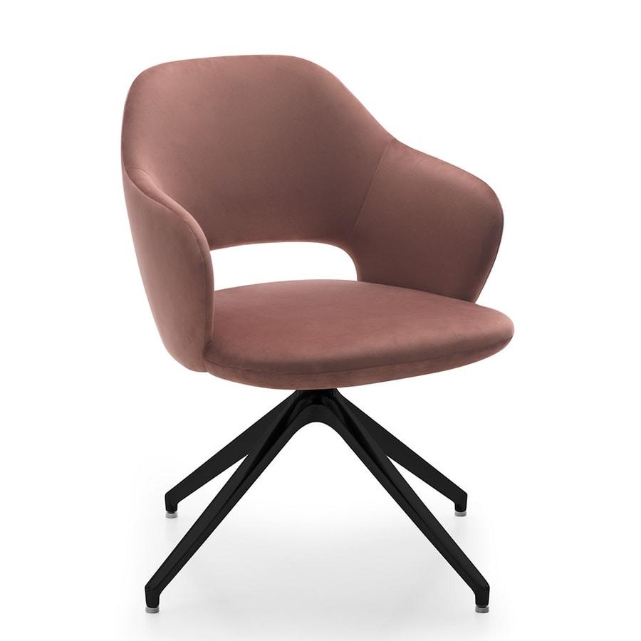 Vivian armchair, Armchair with swivel base