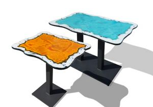 Bar table, Bar table with lava stone top